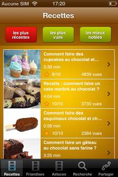 chocolat application pratique