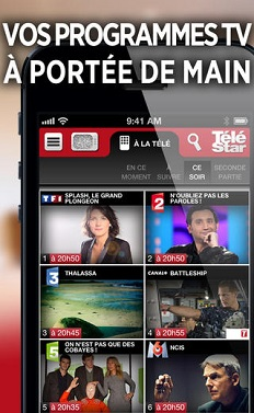 application télé star