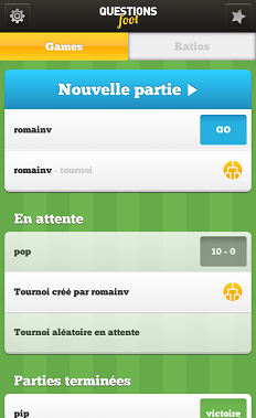 question foot sur iphone