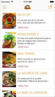 restaurant vietnamien application