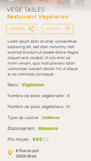 vege tables resto vegetarien